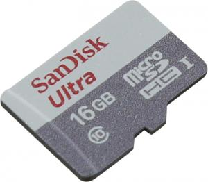 SanDisk Ultra <SDSQUNS-016G-GN3MN> microSDHC Memory Card 16Gb UHS-IU1 Class10