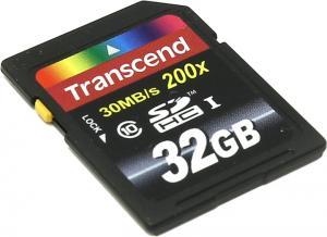 32Gb Transcend <TS32GSDHC10> SecureDigital High Capacity (SDHC) Memory CardClass10
