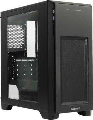Miditower GameMax <H603(-2U3) Blue LED> MicroATX  Без БП
