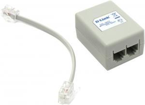 D-Link <DSL-30CF>ADSL Splitter (AnnexA, вход 1xRJ-12 выход 2xRJ-12 ADSL+аналоговый телефон)