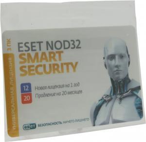 Карта продления лицензии на ESET NOD32 Smart Security на 20 месяцев или активации лицензиина1год