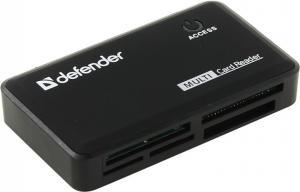 Defender Optimus <83501> USB2.0CF/xD/MMC/RSMMC/SDHC/miniSDHC/microSDHC/MS(/PRO/Duo/M2)CardRead