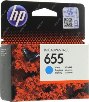 HP DJ 655 (CZ110AE) Картридждля принтеров HP DJIA 3525/5525/4515/4525, голубой, 600 стр