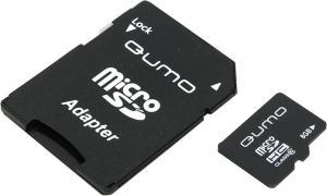 Qumo <QM8GMICSDHC10> microSDHC 8Gb Class10 +microSD-->SD Adapter
