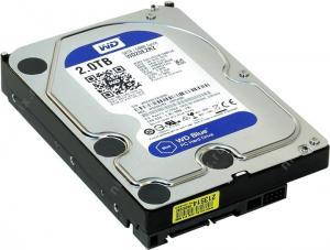 """HDD 2 Tb SATA 6Gb/s Western Digital Blue <WD20EZRZ> 3.5""""5400rpm 64Mb"""