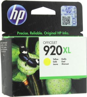 HP DJ 920XL (CD974AE)  Yellow для hp Officejet  6000/6500серии 7000