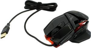 Мышь Mad Catz R.A.T.TE Laser Mouse <Gloss Black> 8200dpi (RTL)USB9btn+Roll<-MCB4370400C2>