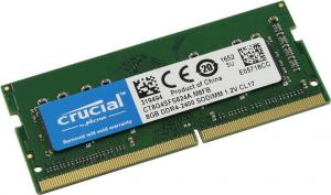 SO-DIMM DDR4 8GB Crucial <CT8G4SFS824A><PC4-19200>  CL17 (for  NoteBook)