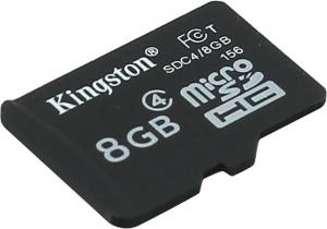 Kingston <SDC4/8GBSP>  microSDHC  Memory  Card  8Gb Class4