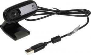 Вебкамера Logitech WebCam C170 (RTL) (USB2.0,640x480, микрофон)<960-001066>