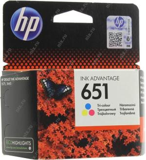 HP DJ 651 (C2P11AE) BHK ColorдляHP DeskJet Adv.5575/5645