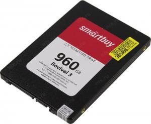 """SSD 960 Gb SATA 6Gb/s SmartBuy Revival 3 <SB960GB-RVVL3-25SAT3> 2.5""""3D TLC"""