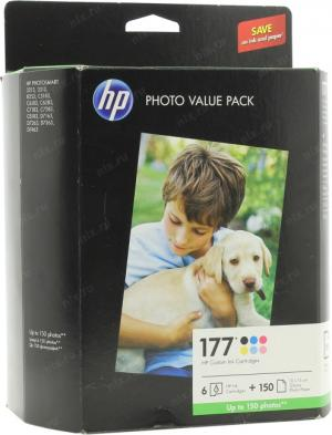 hp SD411HE (Q7967HE)Photo Value Pack(Картриджи hp №177серии-6шт+Adv.Photo Paper,150 л.,10x15см,гля