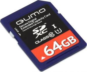 SDXC 64Gb Qumo <QM64GSDXC10U1> Memory Card UHS-I U1