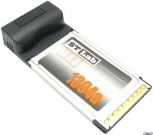 Контроллер ввода-вывода данных ST-Lab C120 PCMCIA/Cardbus IEEE 1394 3 port Adapter ,Retail