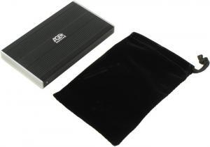 """AgeStar <SUB2S-Black> (EXT BOX для внешнего подключения 2.5""""SATA HDD, USB2.0,Al)"""