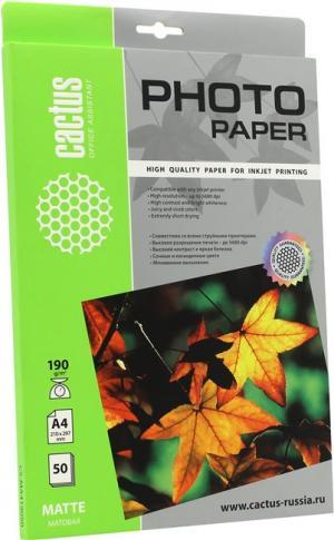 Cactus CS-MA419050 (A4, 50 листов, 190 г/м2)бумага матовая