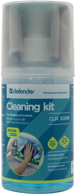 Defender <CLN30598>Очищающий комплекс для всех типов экранов (200 мл+салфетка измикрофибры)