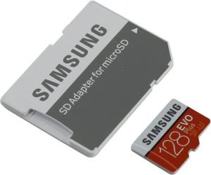 SDXCmicro 128Gb Samsung EVO Plus <MB-MC128GA/RU> Memory Card Class10 UHS-I U3+ microSD-->SD Adapter