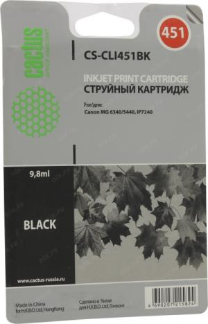 Картридж Cactus CS-CLI451BK Black дляCanonMG6340/5440, IP7240