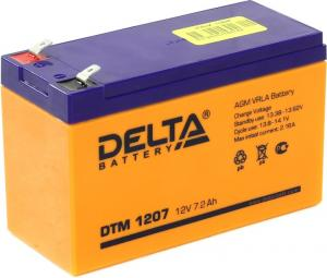 Аккумулятор Delta DTM 1207(12V,7.2Ah)для UPS