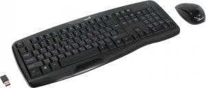 Комплект Genius KB-8000X <Black> (Кл-ра М/Мед,USB,FM+Мышь, 3кн,Roll, Optical, USB,FM) (3134000510)