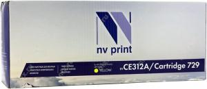 Картридж NV-Print CE312A/Cartridge 729 для HP Color LaserJet CP1012/CP1025, Canon LBP7010C желтый