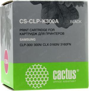 Samsung Тонер-картридж черный для CLP-300, 1000 страниц CACTUS