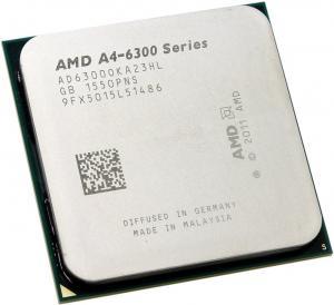 Socket FM2 CPU AMD A4-6300 (AD6300O) 3.7 GHz/2core/SVGARadeon HD 8370D/ 1 Mb/65W/5 GT/s