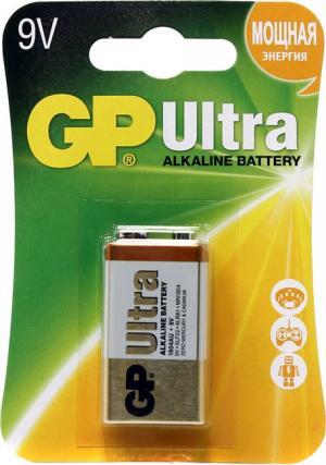 "Батарейка GP Ultra 1604AU-CR1 (6LR61) 9V,щелочная(alkaline),типа ""Крона"""