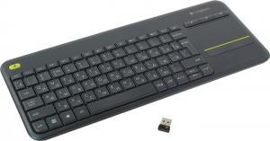 Клавиатура Logitech Wireless Touch Keyboard K400 Plus<USB> 79КЛ+4КЛ М/Мед+TouchPad<920-007147>