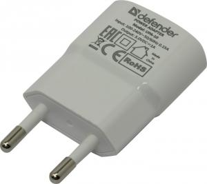 Defender <UPA-10>Зарядное устройство USB (Вх. AC110-240V, Вых.DC5V,USB1A)<83540>
