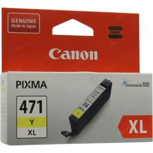 Чернильница Canon CLI-471Y XL  Yellow  для PIXMA MG5740/6840/7740