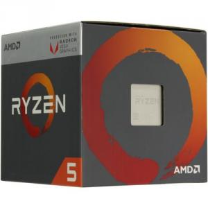 BOX AMD Ryzen 5 2400G (YD240OC) 3.6 GHz/4core/SVGA RADEON RXVega11/2+4Mb/65W SocketAM4