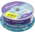 DVD-RW 4,7 Gb TDK, Verbatim bulk