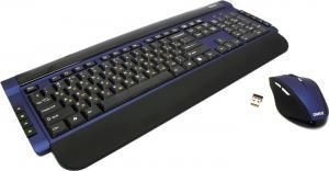 Комплект Dialog Katana KMROK-0517U Blue (Кл-ра М/Мед, USB, FM+Мышь 6кн, Roll, Optical,USB, FM)