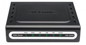D-LINK DSL-2520U/BRU/C ADSL внешний Ethernet/USB роутер, Broadcom chipset,1xLAN, 1xADSL, сплиттер