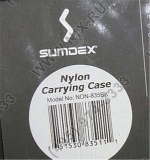 "Сумка для ноутбука SUMDEX NON-835BK нейлон, 13""(внут.32.5х25.5х6) сумка,черн"